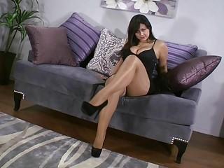 Veronica Cruz rica masturbandose en pantimedias