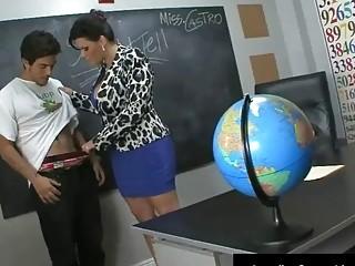 Maestra cubana tetona Angelina Castro follando